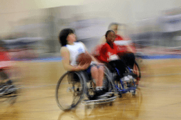 A blur of speed on the basketball court