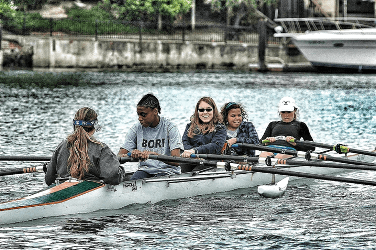 BORP Jr. Adventure participants try their hand at rowing