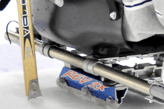 A close up of a hockey sled