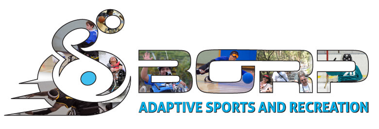 BORP logo with images of BORP athletes inside the letters