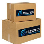 Moving boxes with BORP logo on side