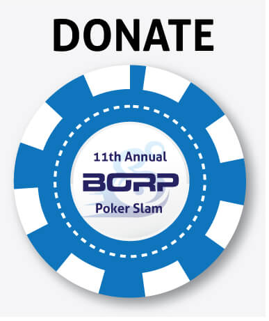 Donate poker chip button