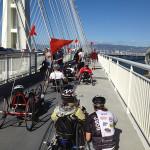 Adaptive cyclists on the new Bay Bridge