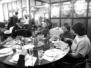 BORP youth enjoy some Chinese food