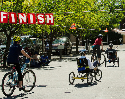The Finish Line at the 2014 Revolution Ride