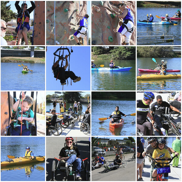 A grid of photos taken at the 2014 BORP SportsFest