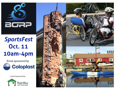 BORP SportsFest - Adaptive Cycling, Kayaking, & Wall Climbing
