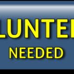 Volunteers Needed button