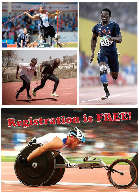$ images of paralympic athletes competing in paralympic track and field events