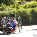 2016 Revolution: Handcyclist rides toward camera