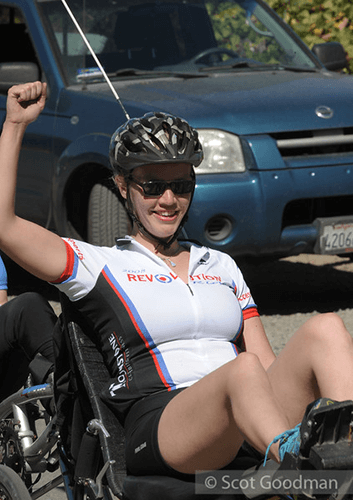 Revolution 2016: recumbant cyclist