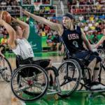 Women's Wheelchair Basketball Action Shot: USA v German