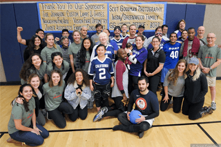 Group shot of all the Goalball players and volunteers after the BORP Goalball Invitational XXII. Photo courtesy of Scot Goodman.