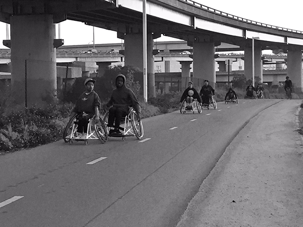 BORP Varsity Basketball Team pushing toward the Bay Bridge