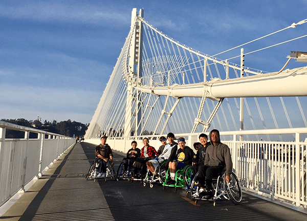 BORP's Varsity Basketball Team on the Bay Bridge