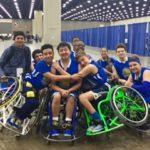 Group hug at the National Wheelchair Basketball Tournament
