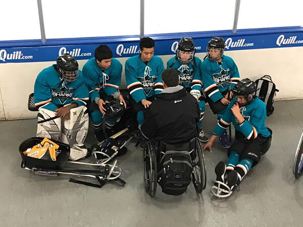 Sharks at the 2017 Disabled Hockey Festival in San Jose, CA