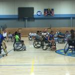 BORP's Jr. Road Warriors playing basketball at the 2017 Angel City Games