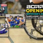 BORP Opening Day - September 9, 2017 - James Kenney Recreation Center 1720 Eighth Street Berkeley, CA 94710 | Picture of Power Soccer players, Wheelchair Basketball, and Goalball