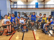 Group picture of basketball camp