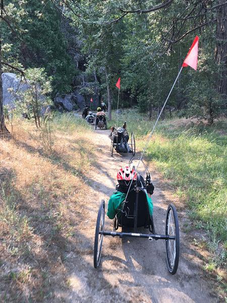 BORP Cyclists take to the trails in Yosemite.