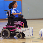 Ruby playing power soccer
