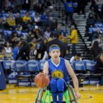 Ben on the court at Oracle Arena