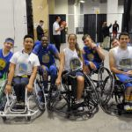 The Jr Road Warriors (group shot) before playing at Oracle Arena