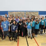 Group shot of players and volunteers at the BORP Goalball Invitational XXIII