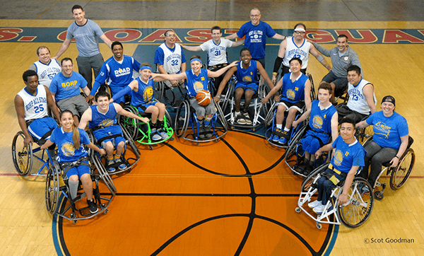 Group picture of the BORP All Stars and the BORP Jr. Road Warriors