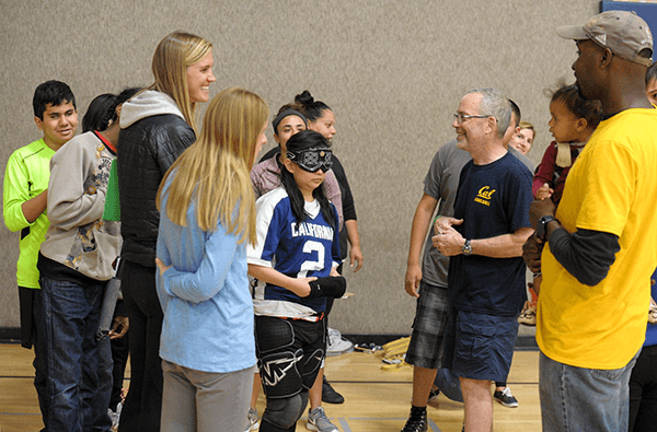CAL Goalball welcomed students and staff from Cal School for the Blind