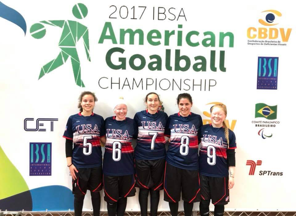 US Women's Goalball Team - Photo via USA Women's Goalball