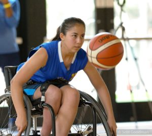BORP Jr. Road Warrior Ella Rodriguez at the 2018 NWBA Junior Division West Coast Conference Championship Tournament
