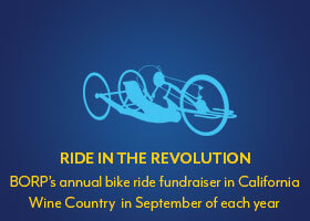 Ride the Revolution: BORP's annual bike ride fundraiser in California Wine Country in September