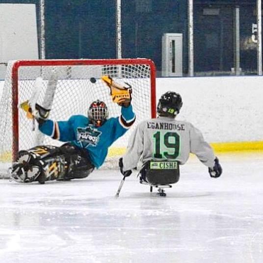 Eyan guarding the goal
