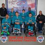 BORP youth Sharks Sled Hockey team group photo