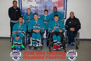 Sharks Sled Hockey group photo