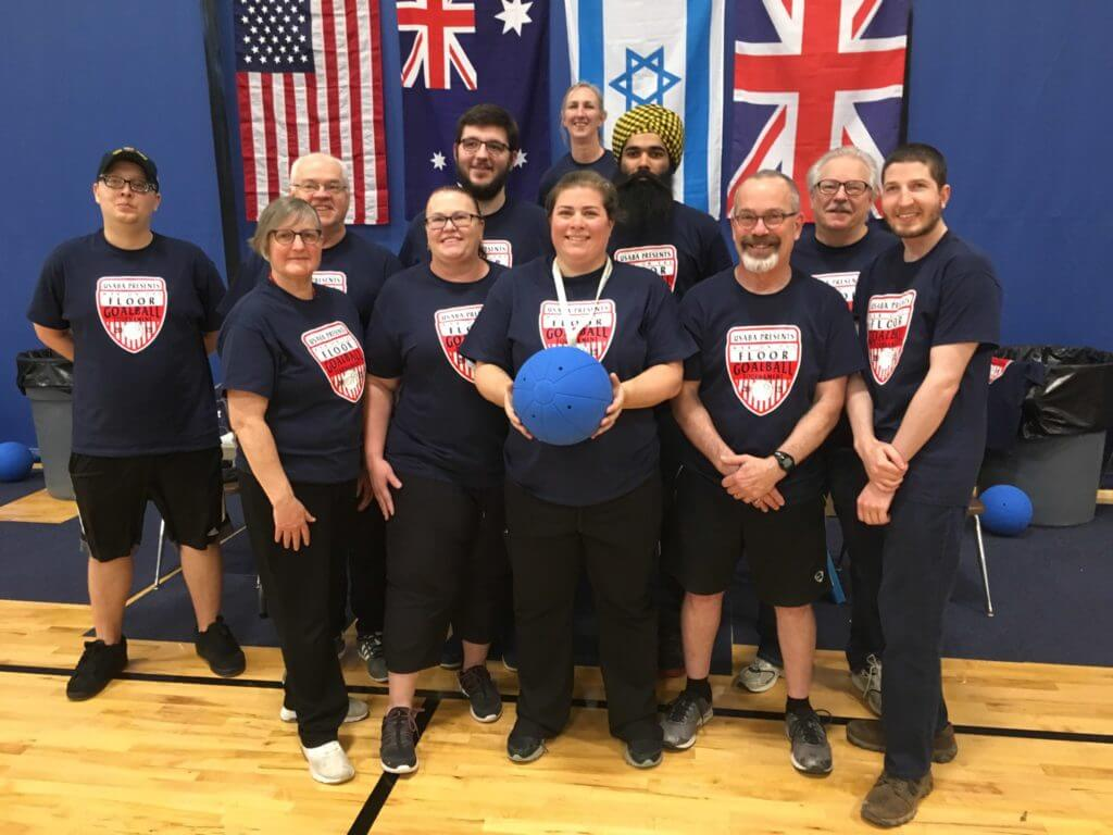 Goalball referees including BORP's Jonathan Newman