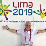 Jonathan Newman at the 2019 Parapan Games in Lima