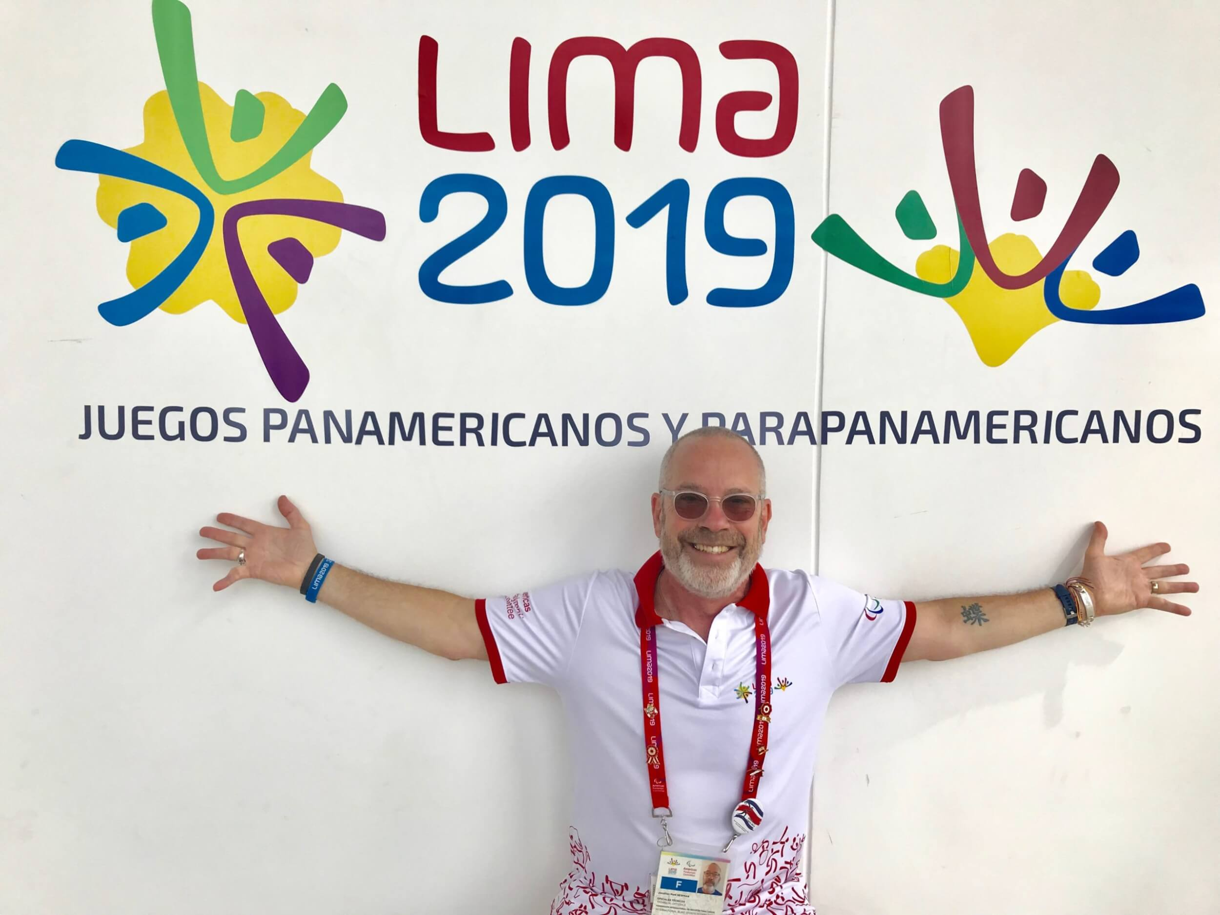 Jonathan Newman at the 2019 Parapan Games in Lima