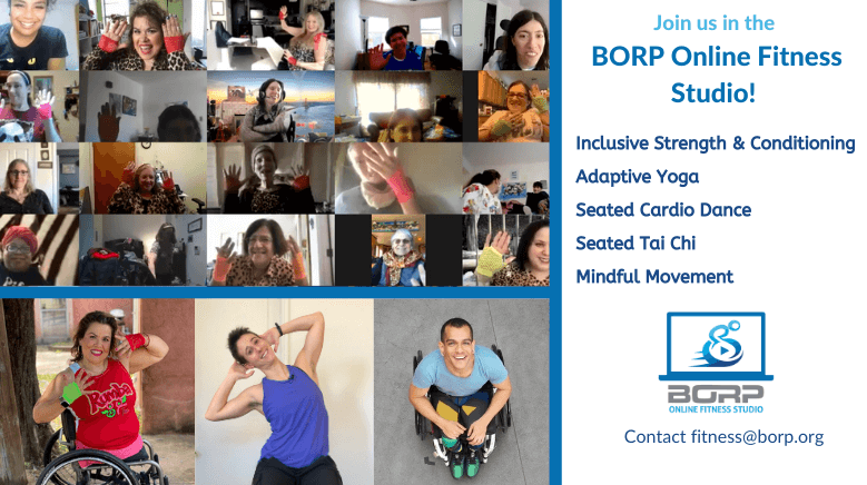 Join the BORP Online Fitness Center