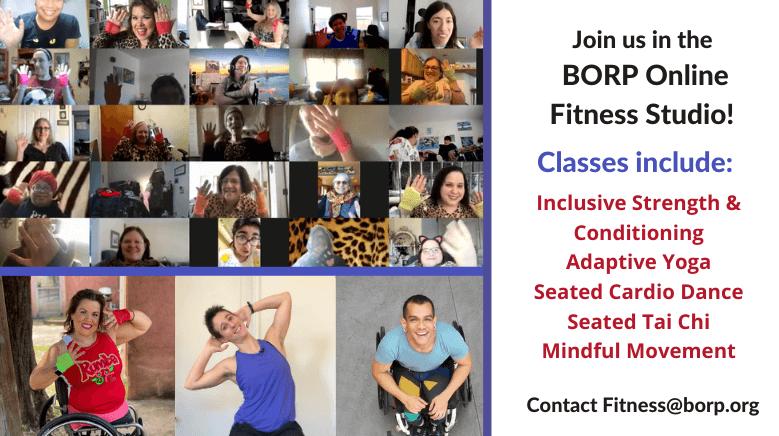 Join BORP's Online Fitness Studio