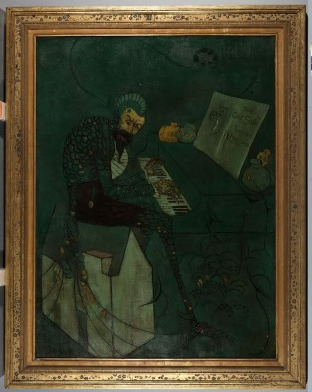 James Abbott McNeill Whistler, The Gold Scab: Eruption in Frilthy Lucre 1879 oil on canvas