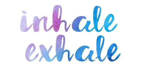 Inhale Exhale Wordart