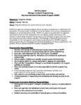 Manager of Sports Programming Job Description