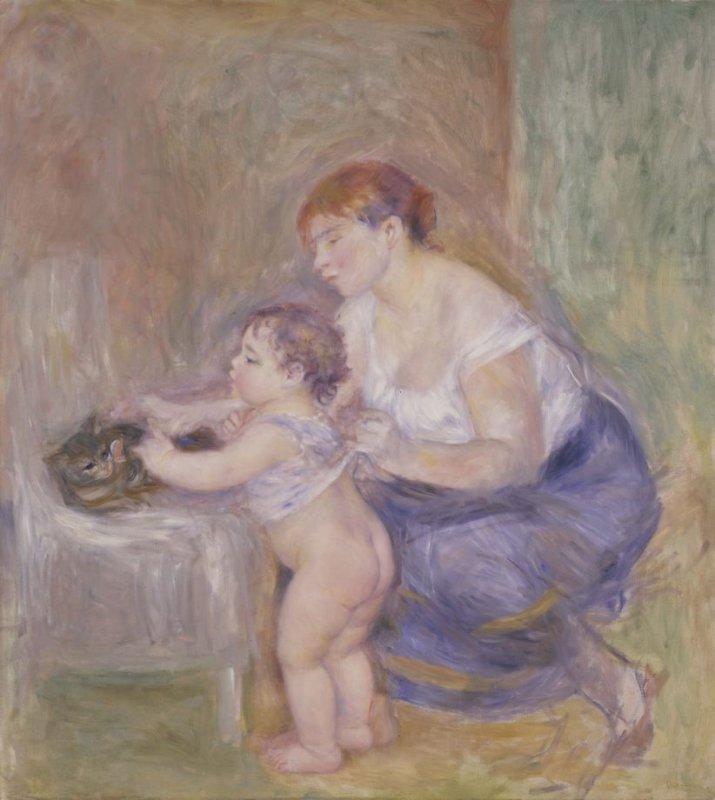 Mother and Child Artwork_Pierre-Auguste Renoir