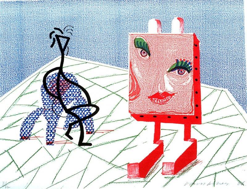 David Hockney_Celia with Guest_Color Xerographic Print_1986