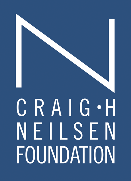 Logo: blue background with text that reads Craig H. Neilson Foundation